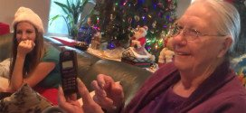 grandma and her chocolate phone