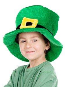 Kid on St Patrick's Day