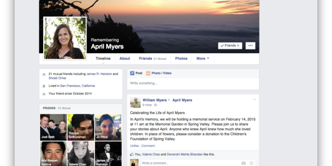Facebook legacy page