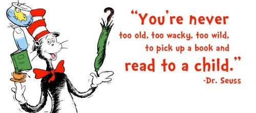 Never to old to read to a child