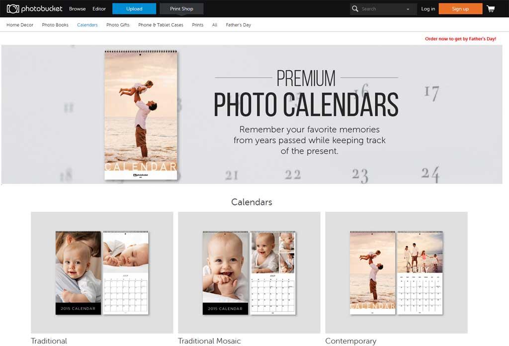 Photobucket Calendars